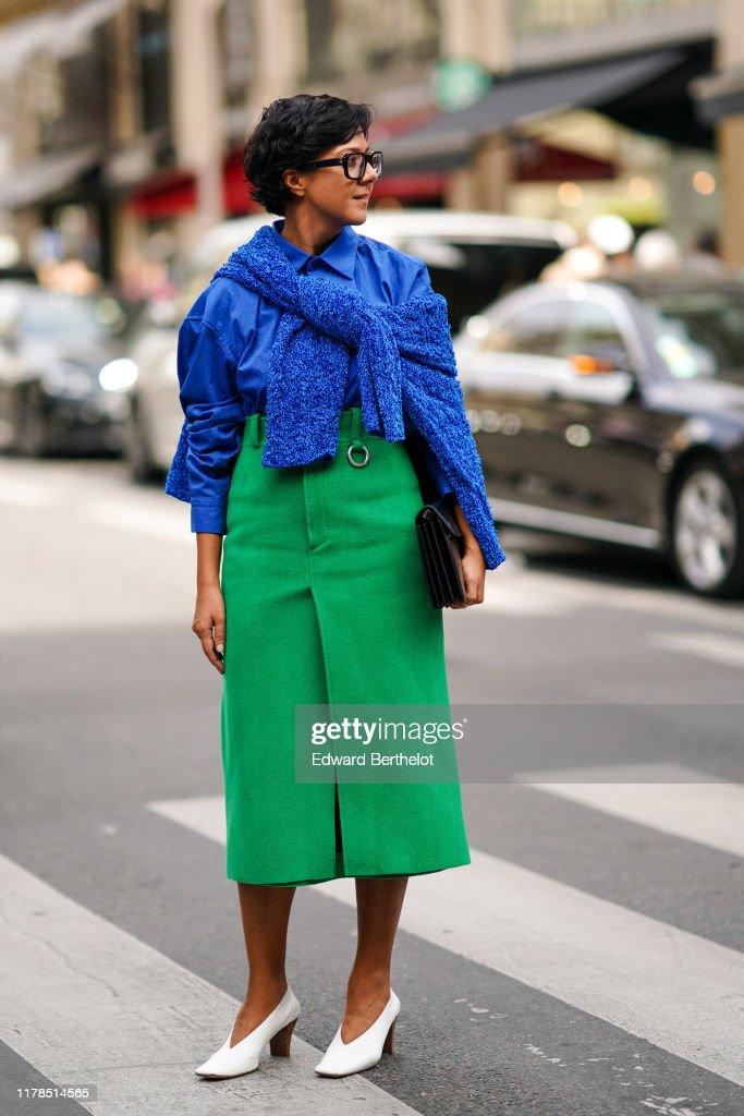 Street Style : Paris Fashion Week - Womenswear Spring Summer 2020 : Day Eight : Photo d'actualité