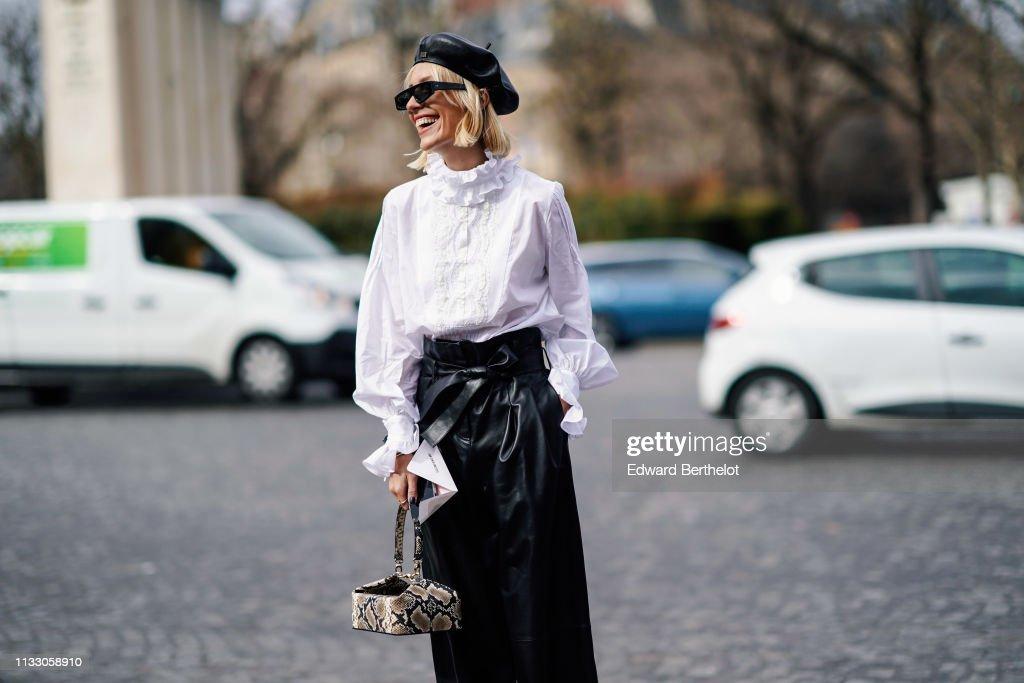 Street Style - Paris Fashion Week Womenswear Fall/Winter 2019/2020 : Day Four : Photo d'actualité