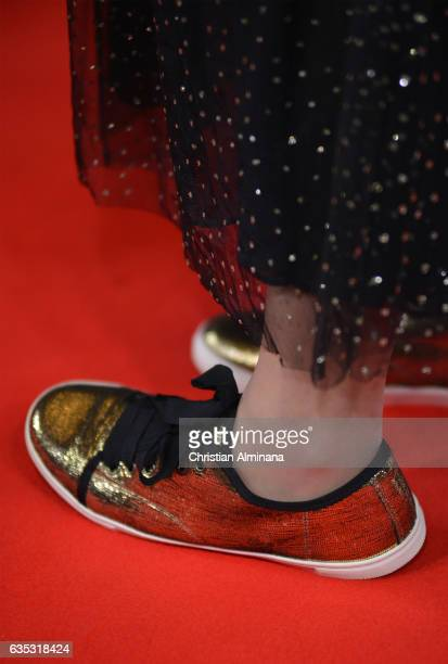 A guest wears trainers for Laureus #Sneakers for Good at the 2017 Laureus World Sports Awards at the Salle des EtoilesSporting Monte Carlo on...