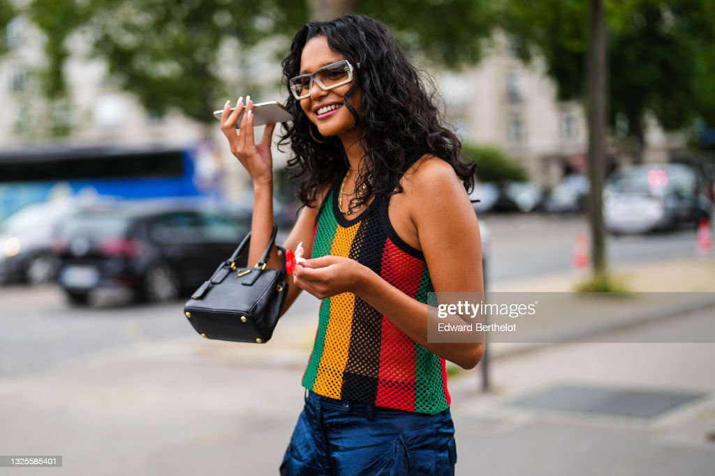 Street Style At  Paris Fashion Week - Menswear Spring/Summer 2022 : News Photo