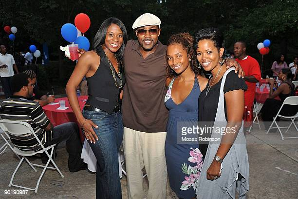 Guest Will Packer Rozonda Chilli Thomas and Malinda Williams attend Terri J Vaughn's birthday party at a Private Residence on August 29 2009 in...
