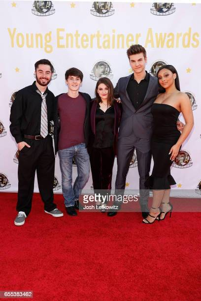 Guest William Leon Hanna Margulies Christian Weissmann and Aliyah Royale attend the 2nd Annual Young Entertainer Awards at the Globe Theatre on March...