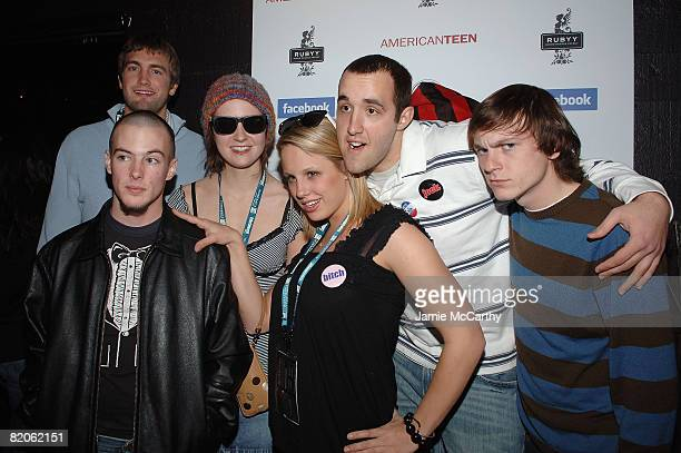 """Guest with actors Jake Tusing, Hannah Bailey, Megan Krizmanich, Colin Clemens, and Geoff Haase attend the After Party for """"American Teen"""" at the..."""