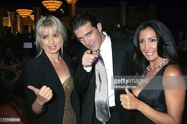 guest with Antonio Banderas and Wanda De Jesus during 21st Annual IMAGEN Awards Arrivals at The Beverly Hilton in Beverly Hills California United...