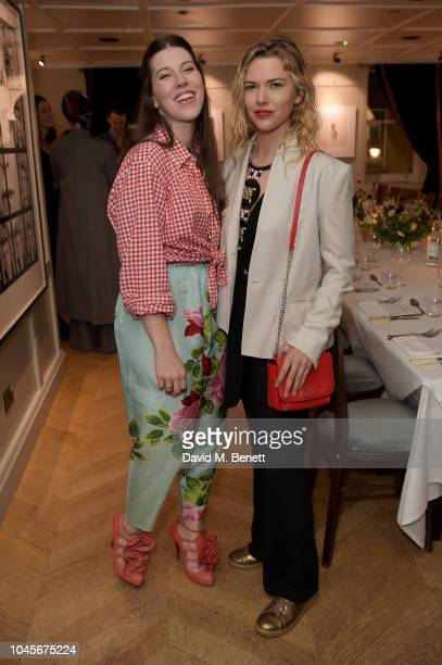 Guest with Lacey Dorn attend the celebration of the partnership between GARAGE and Gemfields and their collaboration with Francesca DiMattio at The...