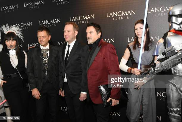 A guest Yassen Samouilov the host and Frederic Blanc attend the Star Wars Party at Le Saint Fiacre on December 12 2017 in Paris France
