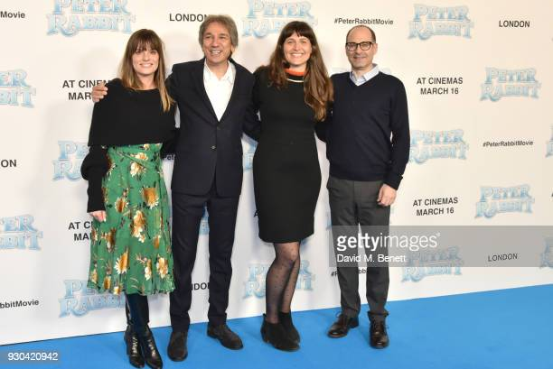 guest Zareh Nalbandian Jodi Hildebrand and guest attend the UK Gala Premiere of 'Peter Rabbit' at the Vue West End on March 11 2018 in London England