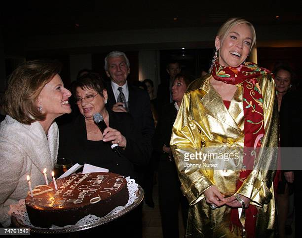 GuestEileen Mitzman and Sharon Stone at the Freds at Barney's in New York City New York