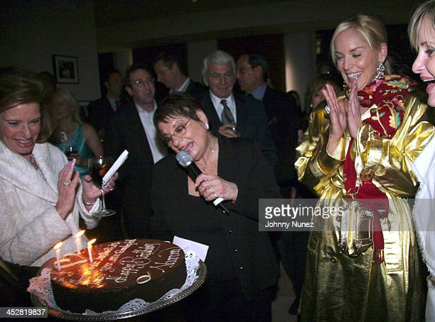 Guest,Eileen Mitzman and Sharon Stone