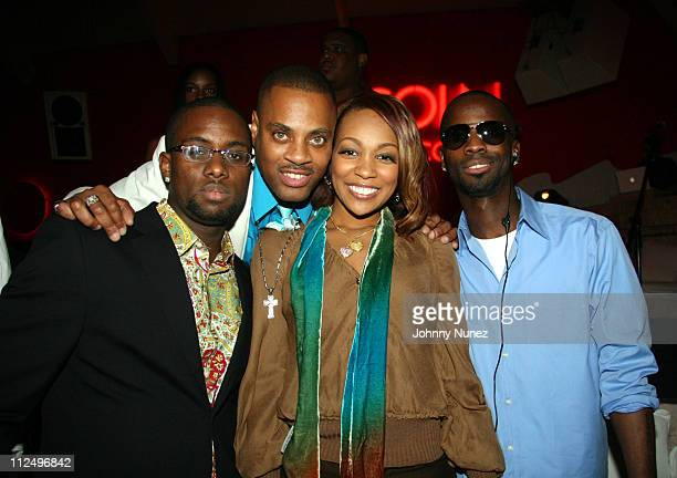 GuestJalilMonica and Bryan Michael Cox during Monica Performance Hosted by Lincoln Reach Higher and Gary Payton November 2 2006 at Nikki Beach Miami...
