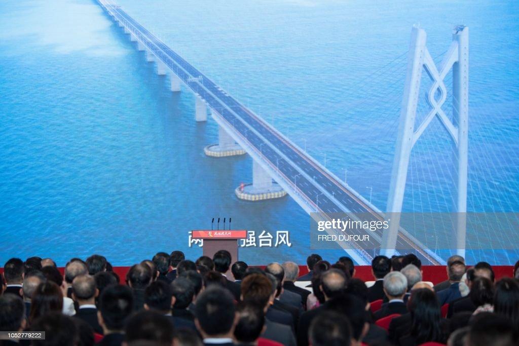 CHINA-HONG KONG-MACAU-BRIDGE-POLITICS : News Photo
