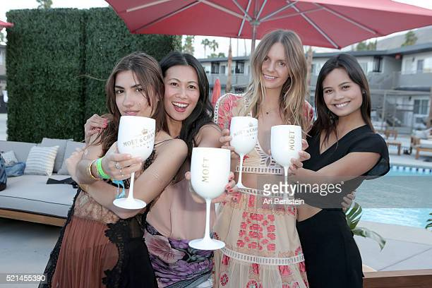Guests and Raissa Gerona attend Moet Chandon kicks off Coachella With REVOLVE on April 15 2016 in Palm Springs California