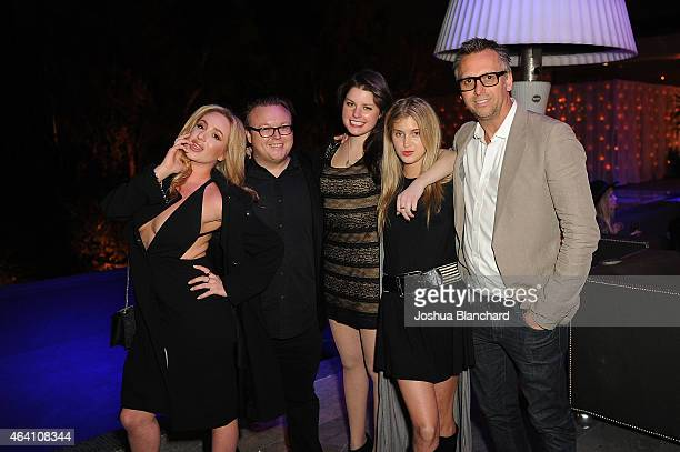 Guests and Steve Shaw attend the Treats Magazine PreOscar Party at the Treats Villa presented by OMNIA on February 21 2015 in Los Angeles California