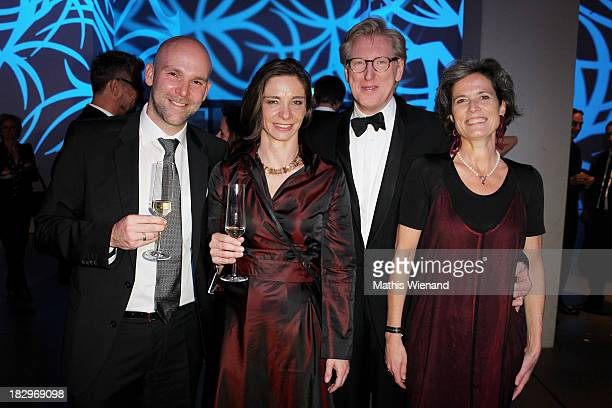 Guests and Theo Koll with Franziska zu Castell-Castell attend the After Show Party of the 'Deutscher Fernsehpreis 2013' at Coloneum on October 2,...
