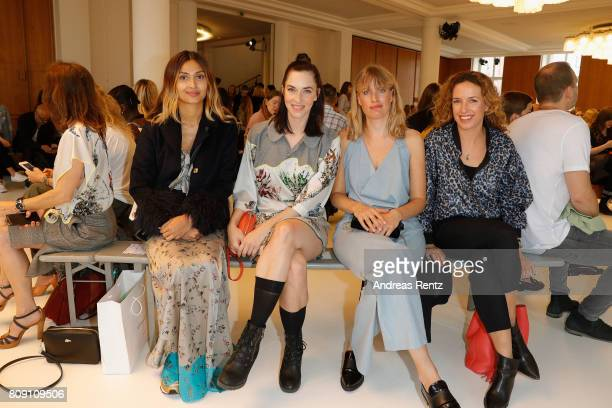 Guests and Ulrike Beck attend the Antonia Goy Defile during 'Der Berliner Mode Salon' Spring/Summer 2018 at Kronprinzenpalais on July 5 2017 in...