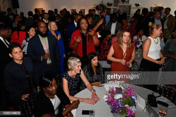 Guests appear at IMPACT Strategies and DP Creative Strategies Tech Media day party and brunch at Longview Gallery on September 14 2018 in Washington...