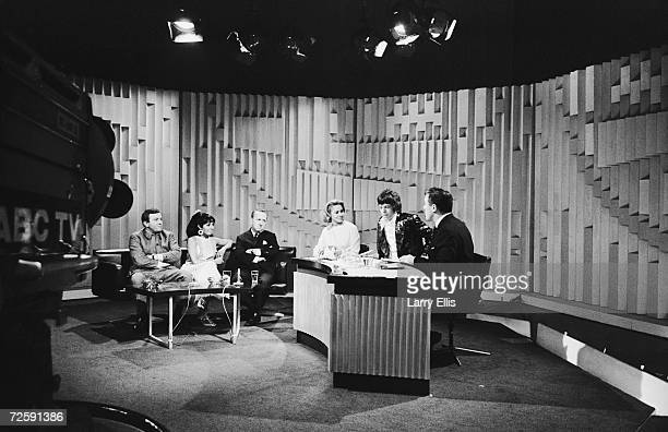 Guests appearing on the Eamonn Andrews ABC television show 5th February 1967 From left to right British comedian Terry Scott singer Susan Maughan...
