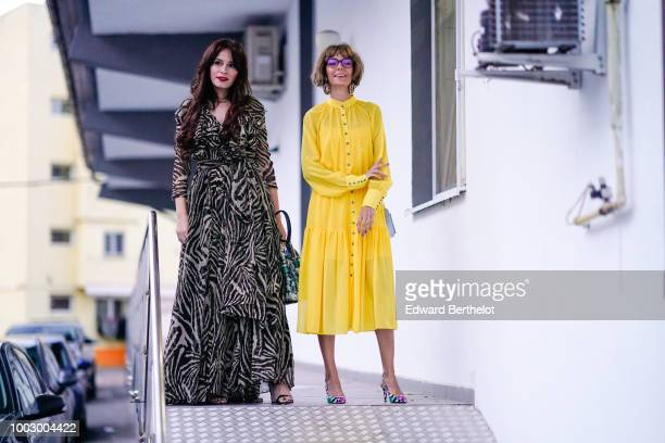 Guests are posing during Feeric Fashion Week 2018 on July 20 2018 in Sibiu Romania