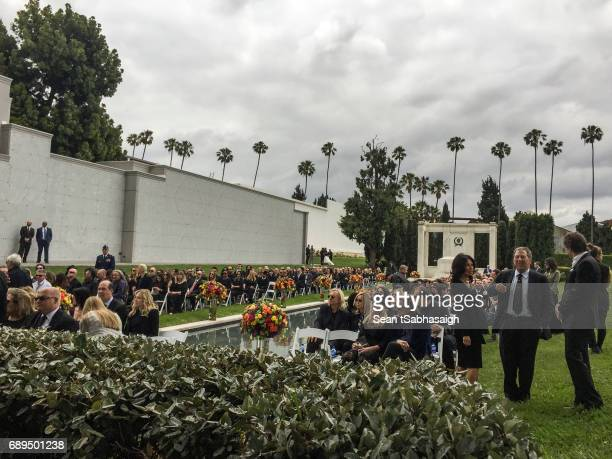 Guests are seated at Chris Cornell's funeral services at Hollywood Forever on May 26 2017 in Hollywood California The grungerock icon was pronounced...