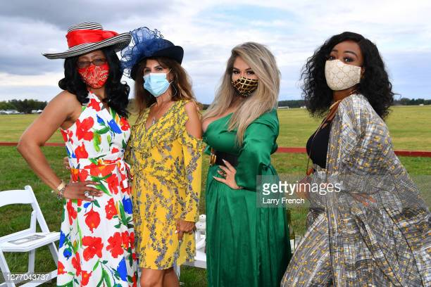 Guests are seen at Grandiosity Events 4th annual Polo & Jazz celebrity charity benefit hosted by Real Housewives of Potomac's Karen Huger, Susan...