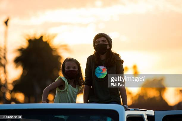Guests are seen at Ventura County Fairgrounds and Event Center on August 15, 2020 in Ventura, California. Due to ongoing coronavirus social distance...