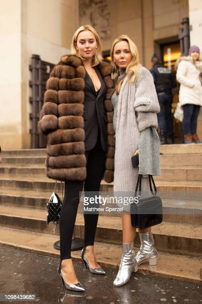 Guests are seen attending Elie Saab during Paris Haute Couture Fashion Week on January 23 2019 in Paris France