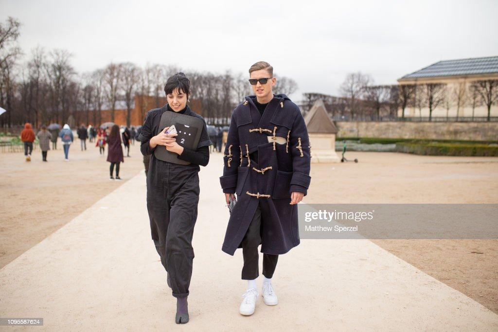 Street Style - Paris Fashion Week - Menswear F/W 2019-2020 : Day Three : ニュース写真