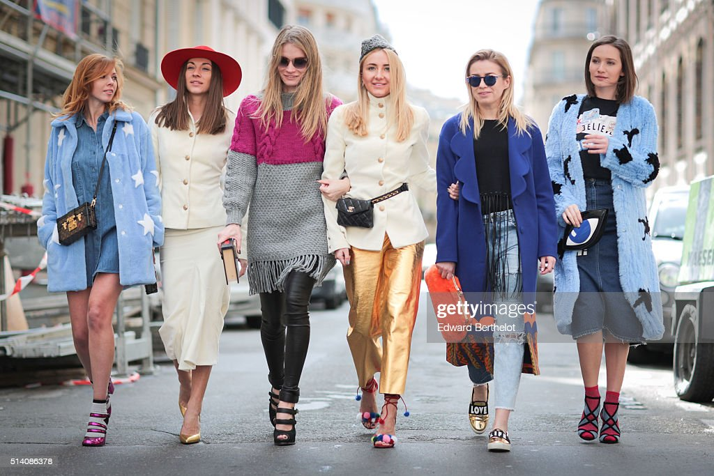 Guests are seen, before the John Galliano show, during Paris Fashion Week, Womenswear Fall Winter 2016/2017, on March 6, 2016 in Paris, France.