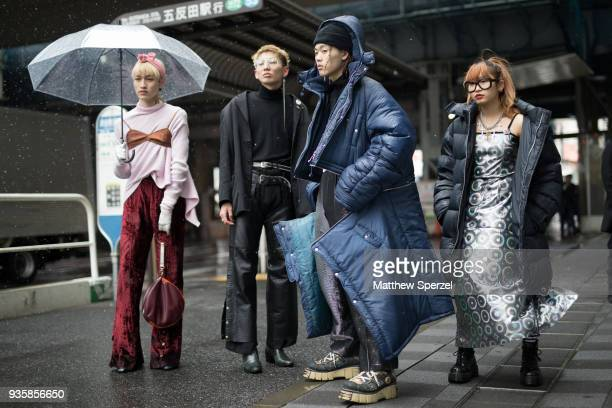 Guests are seen during the Amazon Fashion Week TOKYO 2018 A/W on March 21 2018 in Tokyo Japan