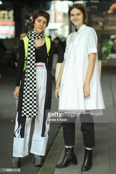 Guests are seen during the Amazon Fashion Week TOKYO 2019 A/W on March 19, 2019 in Tokyo, Japan.