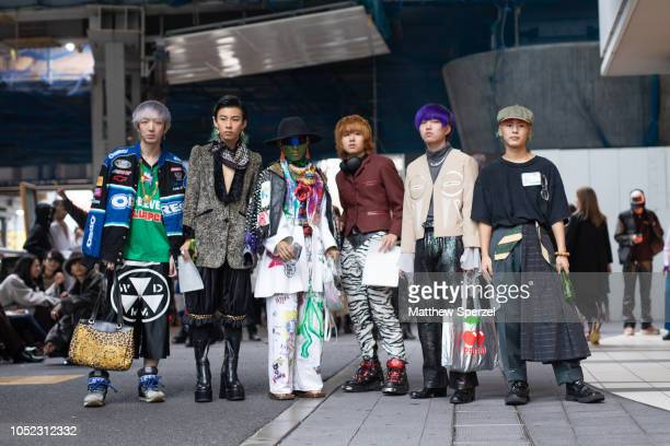Guests are seen during the Amazon Fashion Week TOKYO 2019 S/S on October 16 2018 in Tokyo Japan