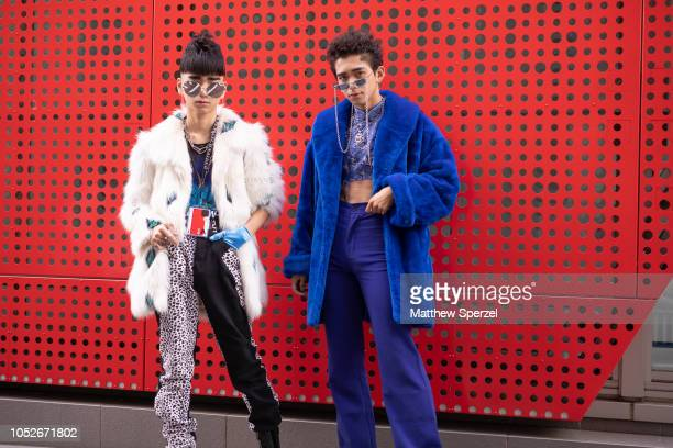 Guests are seen during the Amazon Fashion Week TOKYO 2019 S/S on October 20 2018 in Tokyo Japan