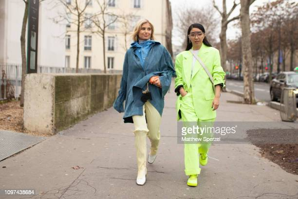 Guests are seen on the street during Men's Paris Fashion Week AW19 on January 20 2019 in Paris France