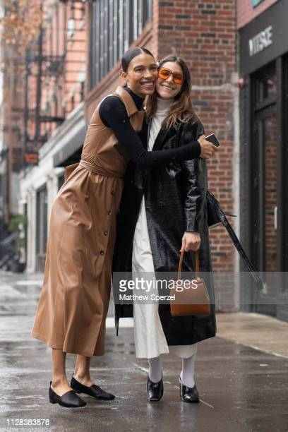 Guests are seen on the street during New York Fashion Week AW19 on February 08 2019 in New York City