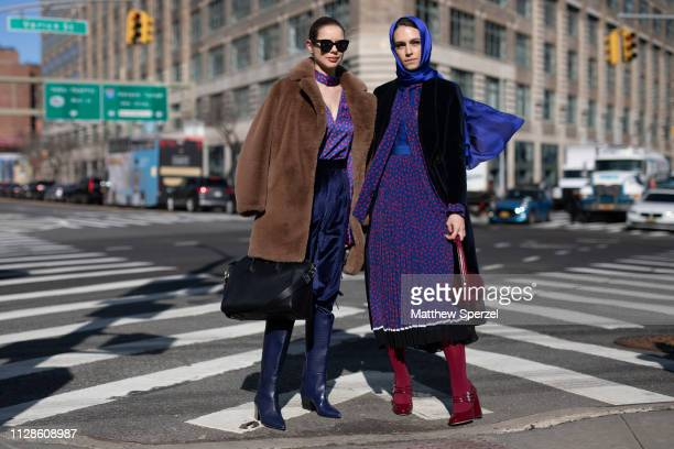 Guests are seen on the street during New York Fashion Week AW19 on February 09 2019 in New York City