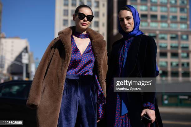 Guests are seen on the street during New York Fashion Week AW19 on February 09, 2019 in New York City.
