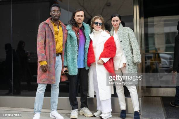 Guests are seen on the street during New York Fashion Week AW19 on February 10 2019 in New York City