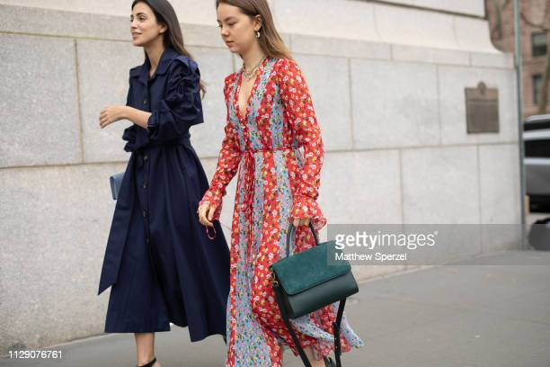 Guests are seen on the street during New York Fashion Week AW19 on February 11, 2019 in New York City.