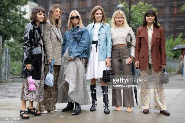 Guests are seen on the street during New York Fashion Week SS19 on September 10 2018 in New York City