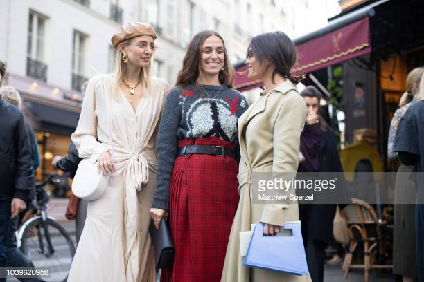 Guests are seen on the street during Paris Fashion Week SS19 on September 24 2018 in Paris France