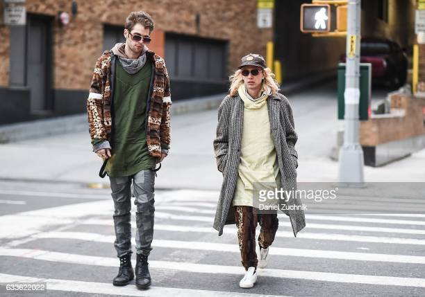 Guests are seen outside of the General Idea show during New York Fashion Week Men's AW17 on February 2 2017 in New York City