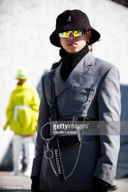 Guests are seen outside Sportmax on Day 3 Milan Fashion Week Autumn/Winter 2019/20 on February 22, 2019 in Milan, Italy.