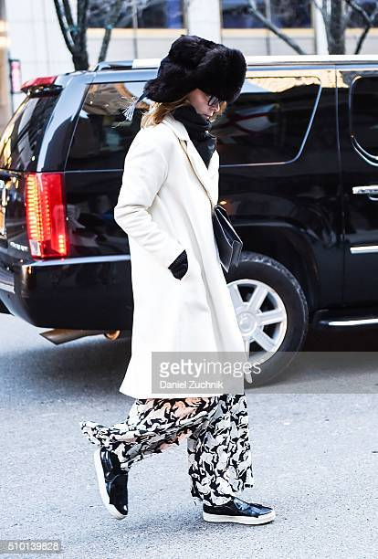 Guests are seen outside the Alexander Wang show during New York Fashion Week Women's Fall/Winter 2016 on February 13 2016 in New York City
