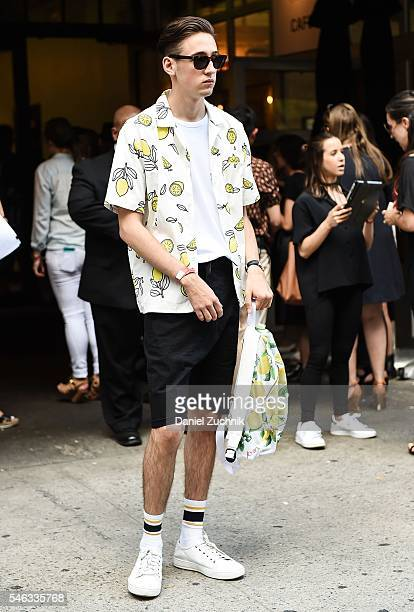 Guests are seen outside the Chapter show during New York Fashion Week Men's S/S 2017 Day 1 on July 11 2016 in New York City