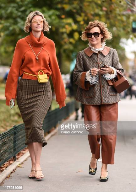 Guests are seen outside the Chloe show during Paris Fashion Week SS20 on September 26, 2019 in Paris, France.