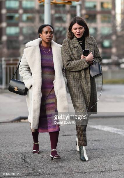 Guests are seen outside the Christopher John Rogers show during New York Fashion Week A/W20 on February 08 2020 in New York City