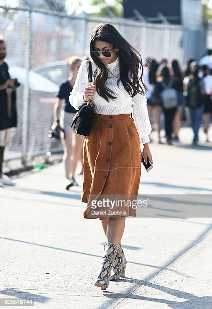 Guests are seen outside the Coach show during New York Fashion Week Spring 2017 on September 13 2016 in New York City