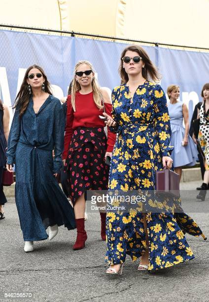 Guests are seen outside the Coach show during New York Fashion Week Women's S/S 2018 on September 12 2017 in New York City