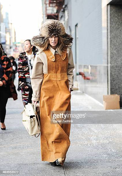 Guests are seen outside the DVF show on February 15 2015 in New York City