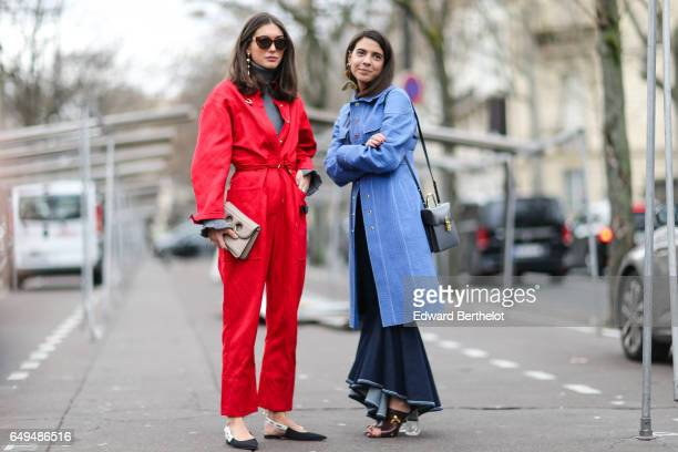 Guests are seen outside the Ellery show during Paris Fashion Week Womenswear Fall/Winter 2017/2018 on March 7 2017 in Paris France
